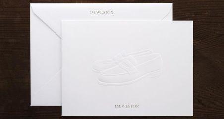 jmweston card+envelope on Gmund Cotton Linen Cream
