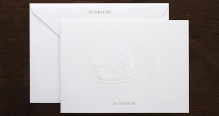 jmweston card+envelope on Gmund Cotton Linen Cream